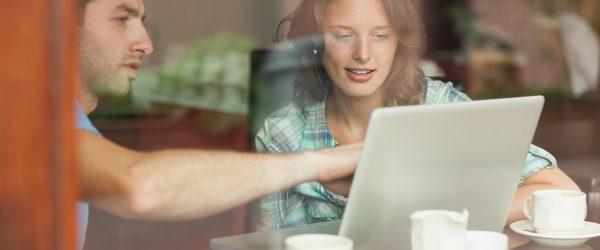 People viewing laptop screen WEB